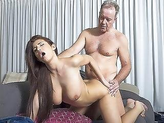 Natural Young Teenie Doggystyle And Deepthroat Sex With Gray Haired Old Man