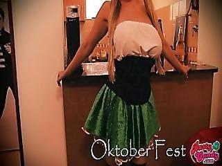 Busty Candy Celebrating Oktober Fest Busty Big-ass Blonde