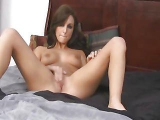 Agreeable Sexy Dark Brown Enjoying Playing Her Slit