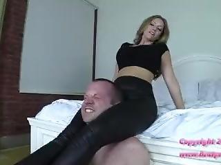 Headscissors In Leather Leggings