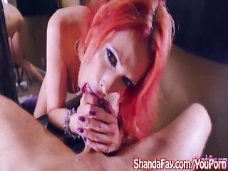Kinky Milf Shanda Fay Sucks Cock For Facial