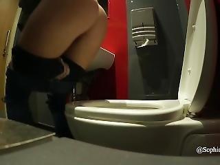 Sophia Smith Piee Pissing Public Toilet