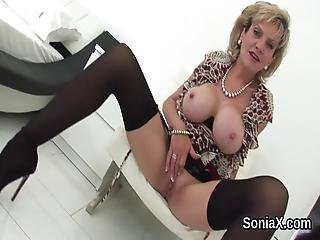 Adulterous British Mature Lady Sonia Shows Off Her Big Boobs