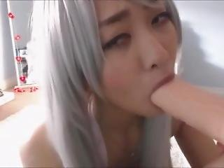 Cuttest Asian Teen Play With Dildo