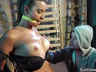 Lingerie Sub Shaking After Bondage Orgasm