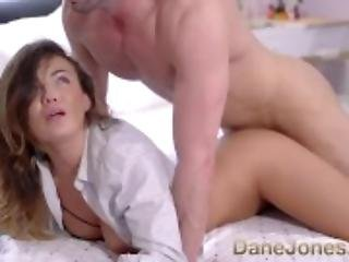 Dane Jones Big tits babelicious princess in lingerie and boyfriends shirt
