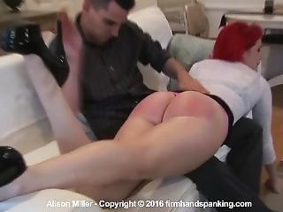 Alison Miller Hand Spanked Hard