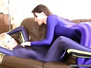 A And J Catsuit Play