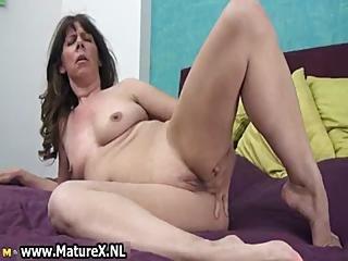 Naughty Mature Slut Fucking Her Own