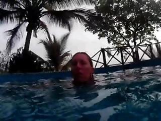 искусство, бассейн, купальник, подводный