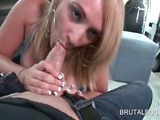 Orally Pleased Amateur Slut Eats Cock In Return
