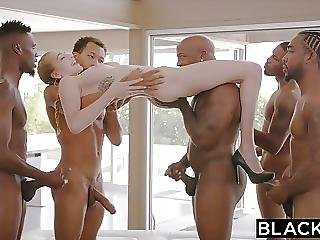 stor cock, sort, brunette, gangbang, interracial, orgie