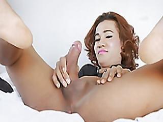 Tight Ladyboy Naymod Shows Off Ass And Masturbates Cock