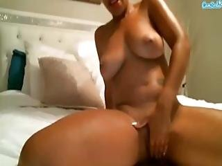 Melrose Fox Ebony Masturbation