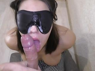 Hard Facefucking In Handcuffs And Eye Mask By Pornhub Toys.