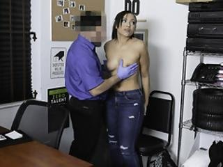 Shoplyfter - Thick Black Shoplifter Teen Gets Facial From Security