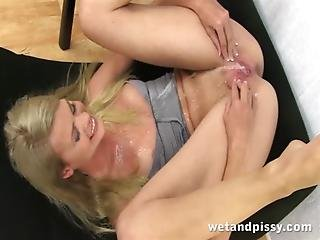 Babe, Blonde, Fetish, Pee, Piss, Pissing, Pornstar, Solo