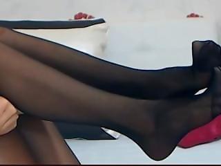 Nylon Feet Livejasmine.com Dom Feet Collant Pantyhose Smother Legs Cina