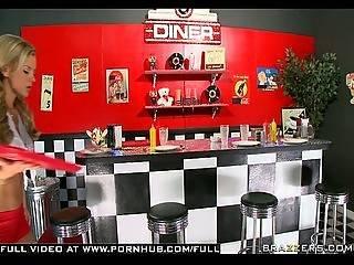 Big Tit Blonde Teen Sucks Anally Fucks Big Cock On Diner Floor