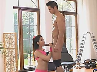 Cute Babe Lady Dee Fully Satisfies The Cock Of Her Personal Trainer