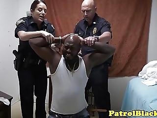 Dominating Cops Want Black Suspects Cock