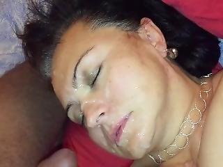 Slut Wife Was Ordered To Take Facial From Stranger