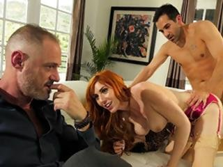 Busty Redhead Wife Fucks Her Doctor In Front Of Her Guy