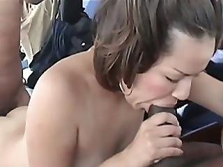 Ibisa Couldn T Believe Her Eyes When Shane And Sylvio Whipped Out Their Big Black Cocks She Seemed To Be Pleasantly Surprised As She Wasted No Time By Starting Off With Sylvio S Cock Watch As Ibisa Gets Blackballed In This Episode Of Black Cocks White Slu