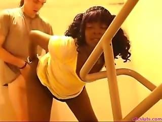 Amateur, Ebony, Fucking, Stair, Webcam