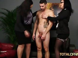 Horny Office Sluts Interviewing Guy