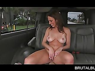 Naked Beauty Gives Bj And Titjob In The Bus