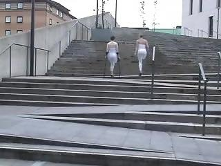 Amputees Hopping In Public