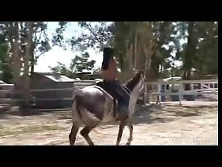 Cecily From 1fuckdate.com - Topless Asian Teen Riding A Horse