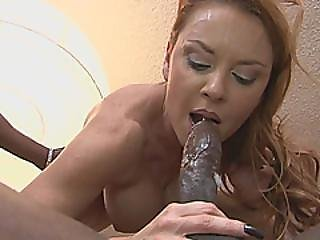 Reverse Cowgirl Blowjob Busty Milf Janet Threesome