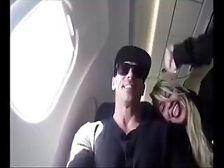 Horny Blonde Blowing Cock In Public Flight From Mexico