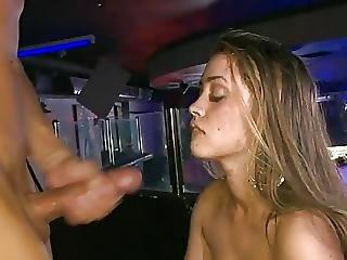 Girl In The Club Taking A Big Facial Cumshot