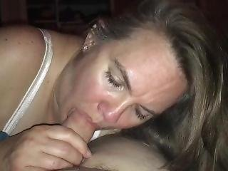 A Blowjob From The Beautiful Wife!