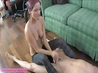 Ashley Sinclair Jerks Off And Ballbusts Her Big Brother Lance Hart