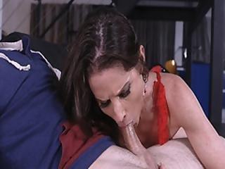 Milf Sofie Marie Swallows Jake Adams Large Rod Sucking It So Deep