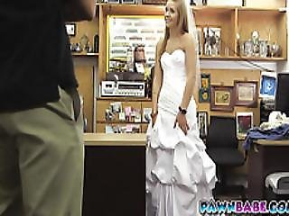 The Pawnman Went Crazy Seeing Her Hot Body Inside The Wedding Dress