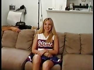 Blonde Patriots Cheerleader Aubrey Does Anal