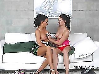 Busty Lesbian Mom Licks Ass To Sexy Teen