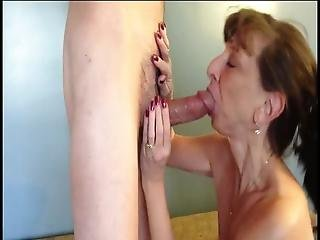 Mature Blowjob For Young Step Son Old And Young