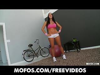 Mofos Big Booty Brunette Shows Off Her Ass