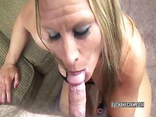 Blonde, Blowjob, House, Housewife, Mature, Milf, Mom, Oral, Pov, Swallow, Wife
