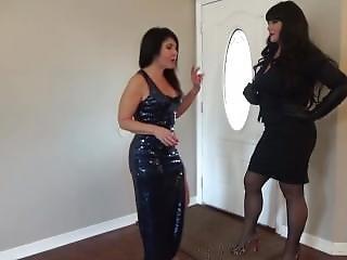 Tall Amazon Sophia Destroy Her Tiny Boss
