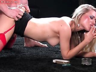 porno ster, roken