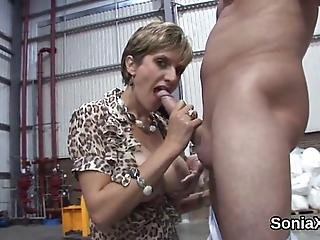 Big Titted Bisexual Spouse Lady Sonia Teases Her Heavy Hooters And Rubs Spread Pussy In Undies