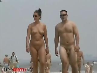 Amadores, Praia, Morena, Nudez, Público, Espia, Adolescentes, Voyeur