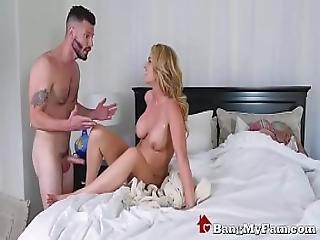 Stepson Fucks Hot Mom Rachael Cavalli Next To Dozy Dad